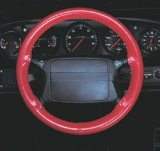 Wheelskins Leather Steering Wheel Cover, Burgundy