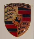 Porsche Crest Decal, 3/4 x 7/16 in