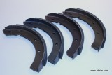 Brake Shoe Set, Standard, 356 w/drum Brakes