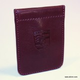 Leather Porsche Key Pouch, Maroon