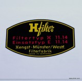 H-Filter Oil Filter Canister Top Cover Decal