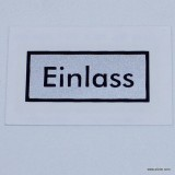 "H-Filter ""Einlass"" Decal"