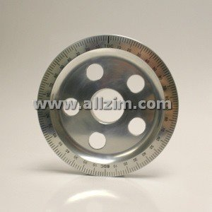 356/912 Aluminum Degree Crank Pulley