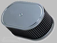 K&N Air Filter Assembly, 356 w/Solex