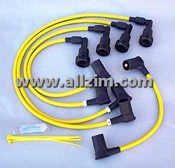 Yellow 8MM High Performance Spark Plug Wire Set, 924S/944/T 83-89
