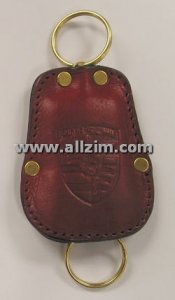 Leather Key Case, Red