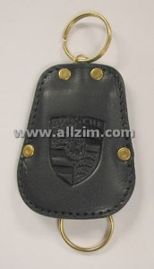 Leather Key Case, Black