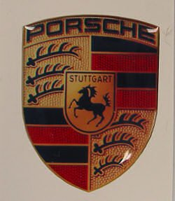 Porsche Crest Decal, 1 1/4 x 1 in