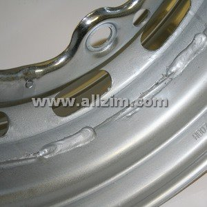Chrome Wheel, 356 w/Drum Brake, 5.5 wide