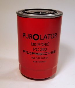 Oil Filter, Original Red PurOlator, 911 72-89/930 76-89/C2/C4