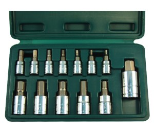 13 Pc. Metric Hex Bit Socket Set