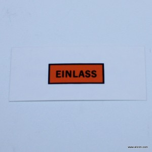 "Fram ""Einlass"" Decal"