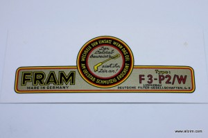 Fram Oil FIlter Side Decal-Large