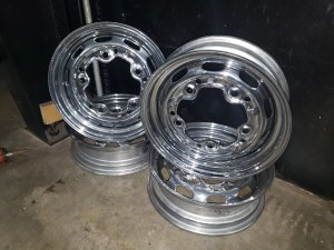 "4.5"" CHROME REPRO WHEEL SET"